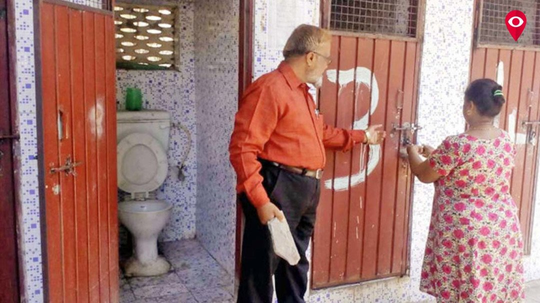 Family stopped from using public toilet