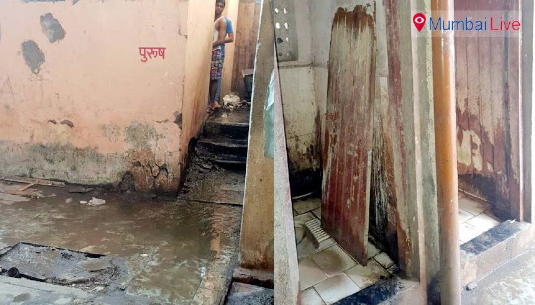 Bad condition of toilets in Charkop