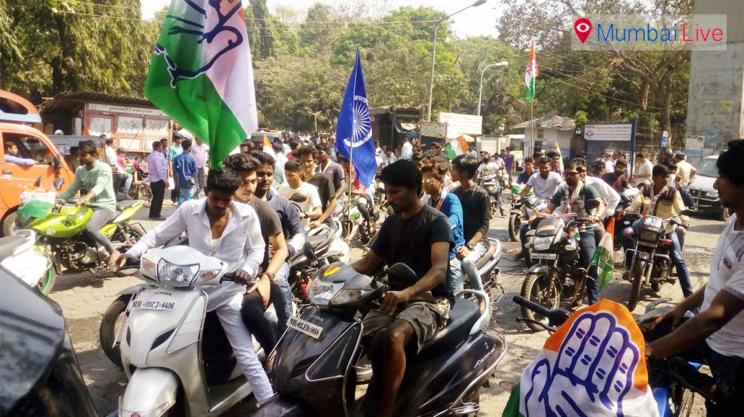 Bikers violate traffic rules during a rally