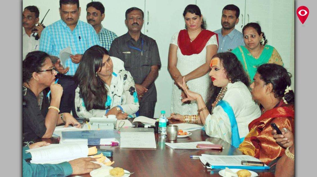 Transgender delegates conduct a meeting with Pankaj Munde