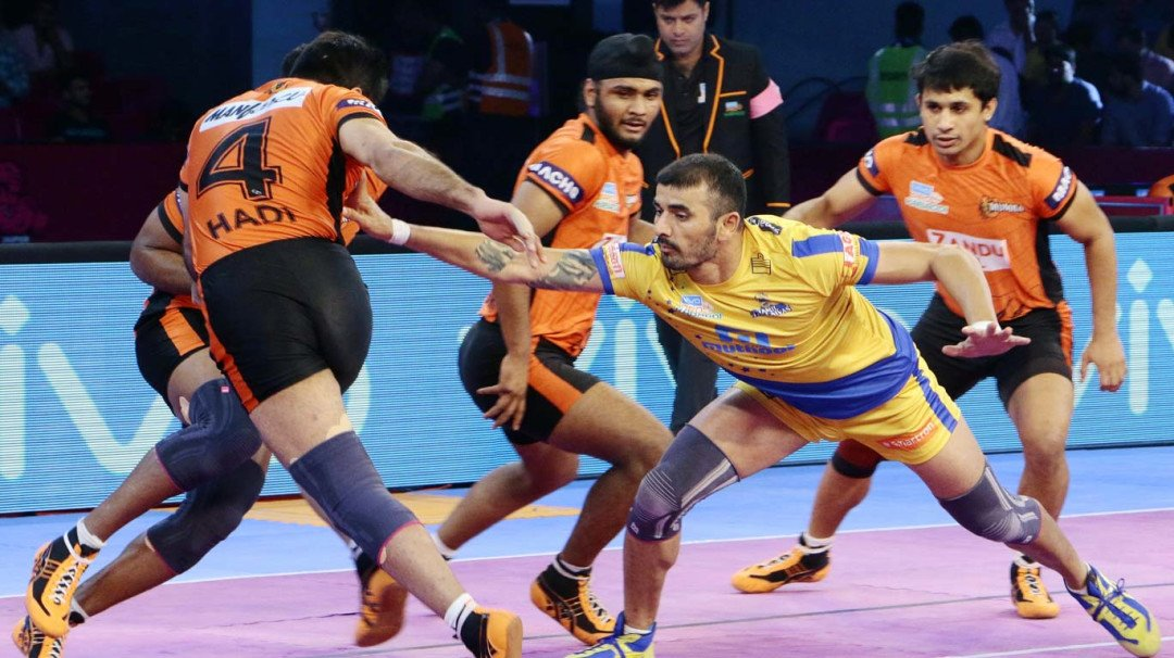 Tamil Thalaivas beat U Mumba 38-35 in Pro Kabaddi League