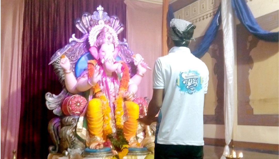 Girgaon's Poice will Bid Adieu Bappa