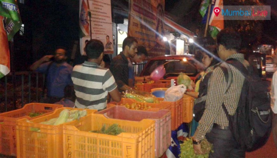Anand Ingale sells veggies