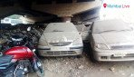 Cars dumped under flyover
