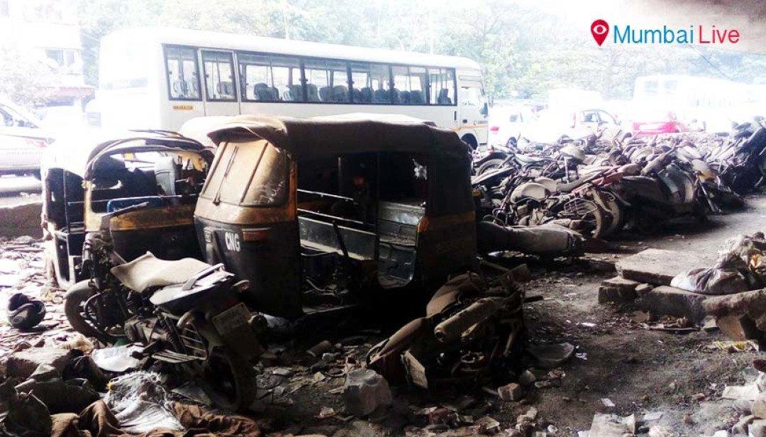 Cars dumped under flyover