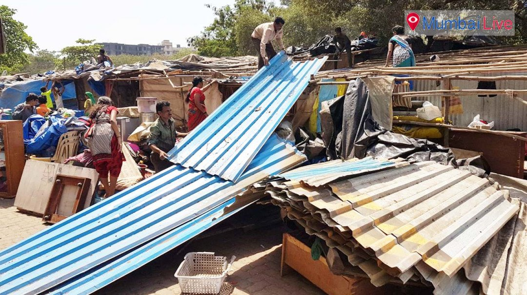 BMC razes 138 unauthorised shops in Versova
