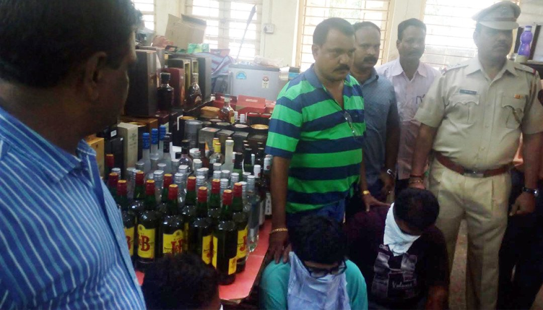 Liquor worth 38L seized in Chunabhatti