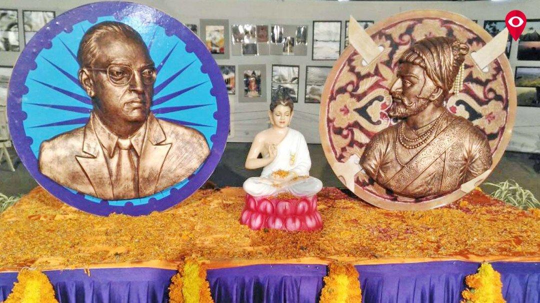 मुंबई विद्यापिठात बाबासाहेब, महाराजांची संयुक्त जयंती साजरी