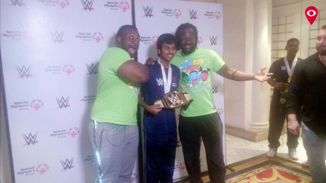 WWE superstars Big E and Kofi Kingston meet special athletes