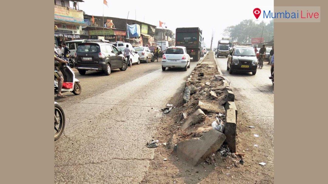 Car hits road divider in Wadala