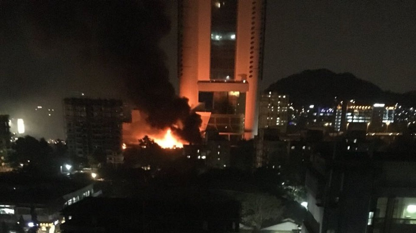 Massive fire at Mumbai studio