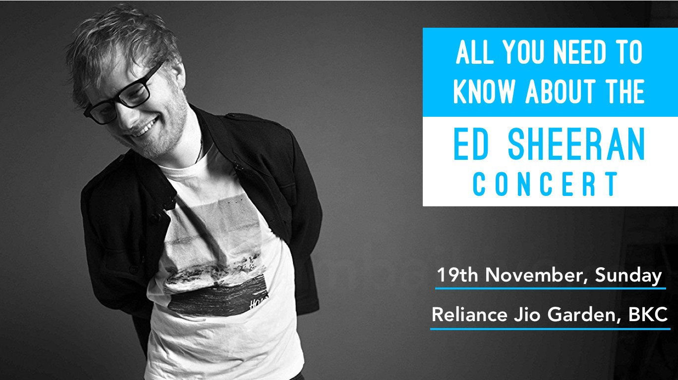 Ed Sheeran lands in Mumbai for gig