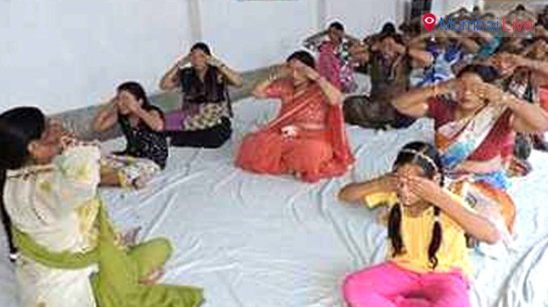 Yoga camp held for women