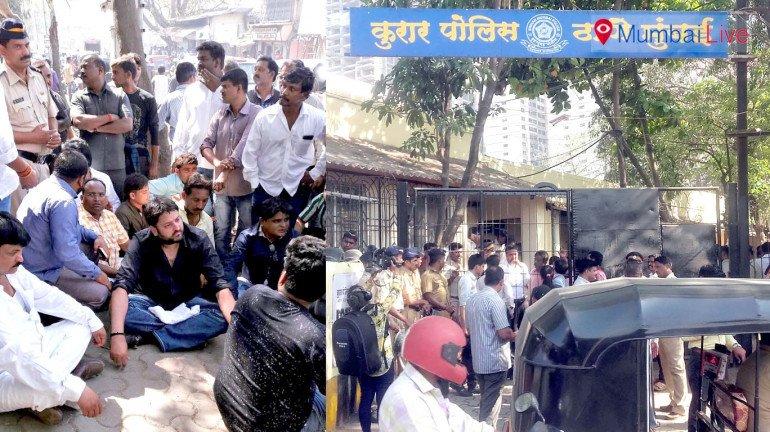 BJP, Bajrang Dal activists stage protest against Sena