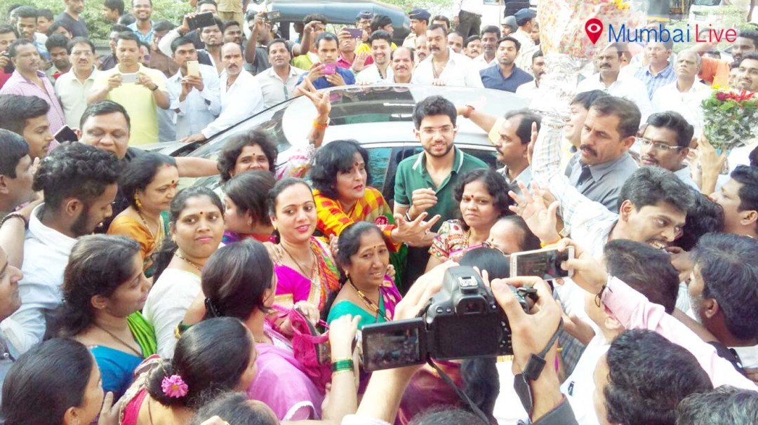 Aditya Thackeray visits party office