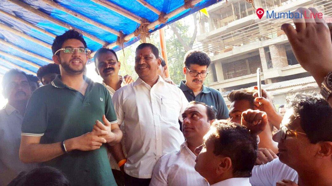 Aditya Thackeray visits party office