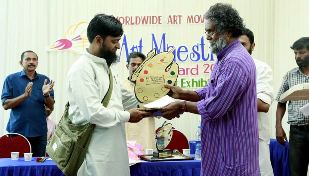 Painter Zakir Hussain bags First Prize in Kerala