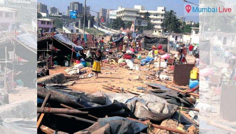 BMC demolishes shanties near flyover