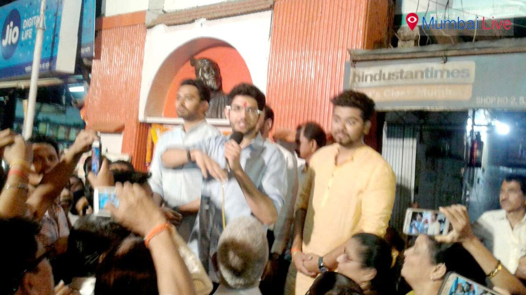 Aditya Thackeray campaigning at Dahisar