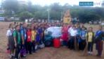 Dr.S.Radhakrishnan Vidalaya students cleaned Aksa Beach