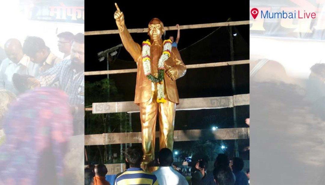 Babasaheb Ambedkar's 12 feet tall idol