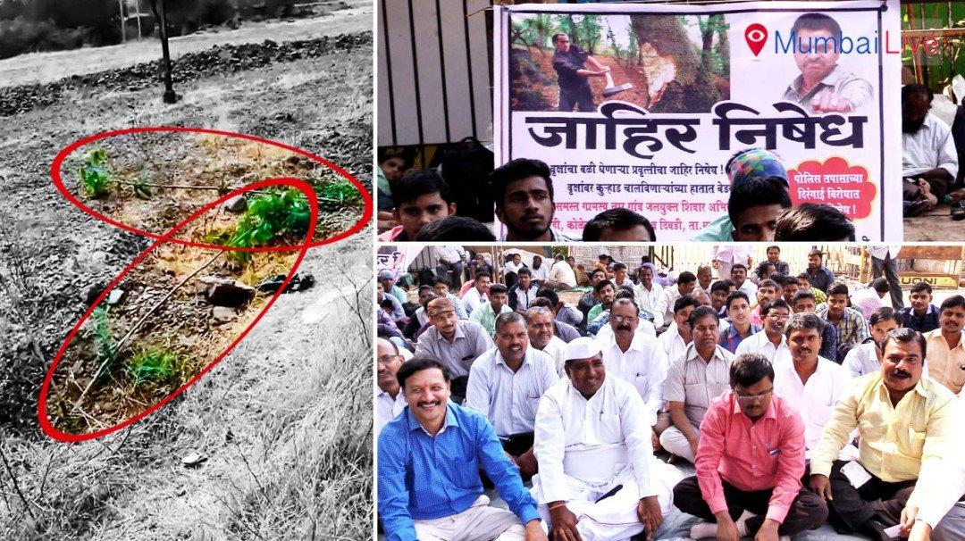 Villagers protest against deforestation