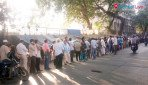 People crowd at Wadala bus Depot