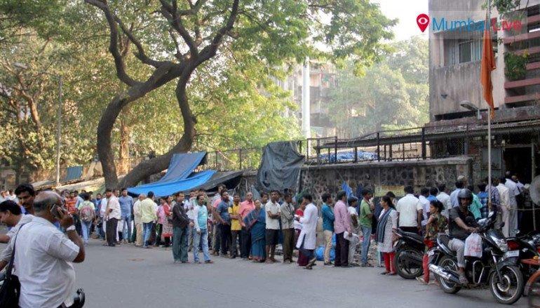 People crowd at Wadala bus Depot