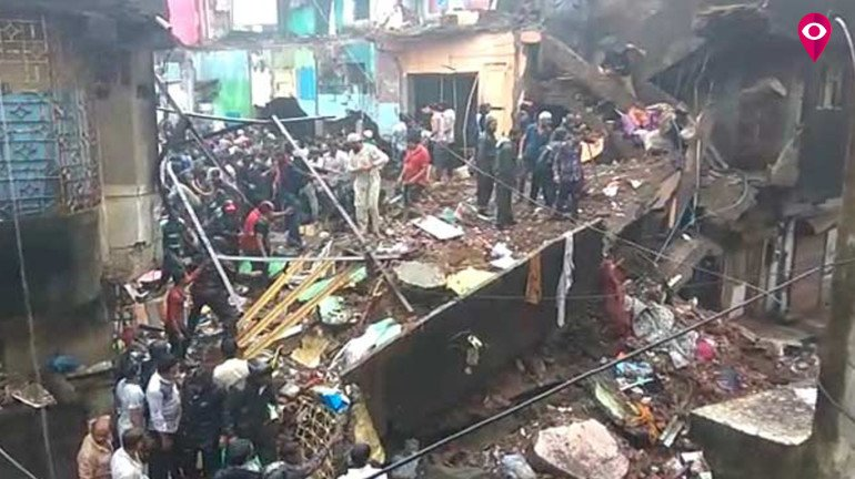 Four-storey building collapses in Bhiwandi; three dead while 10-15 trapped