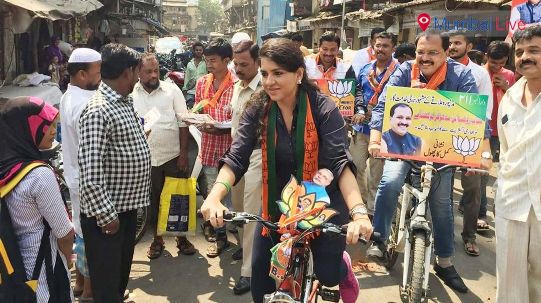 BJP conducts cycle rally at Byculla