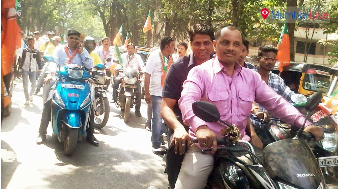 बाइक रैली में दिखा बीजेपी का दम