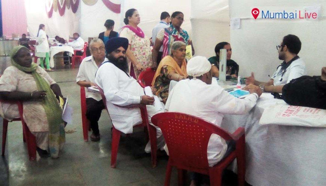 Free health camp in Gurudwara