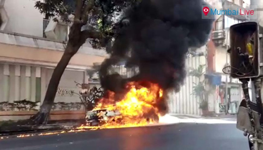 BMW caught fire