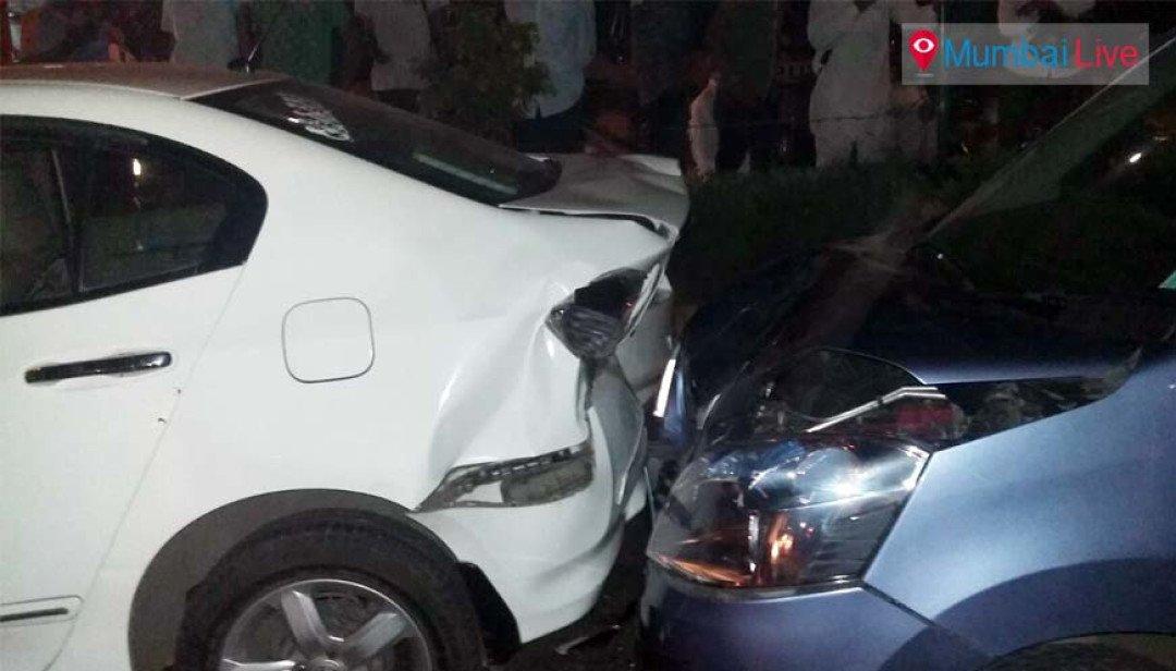 Bus hit six vehicles - 1 injured