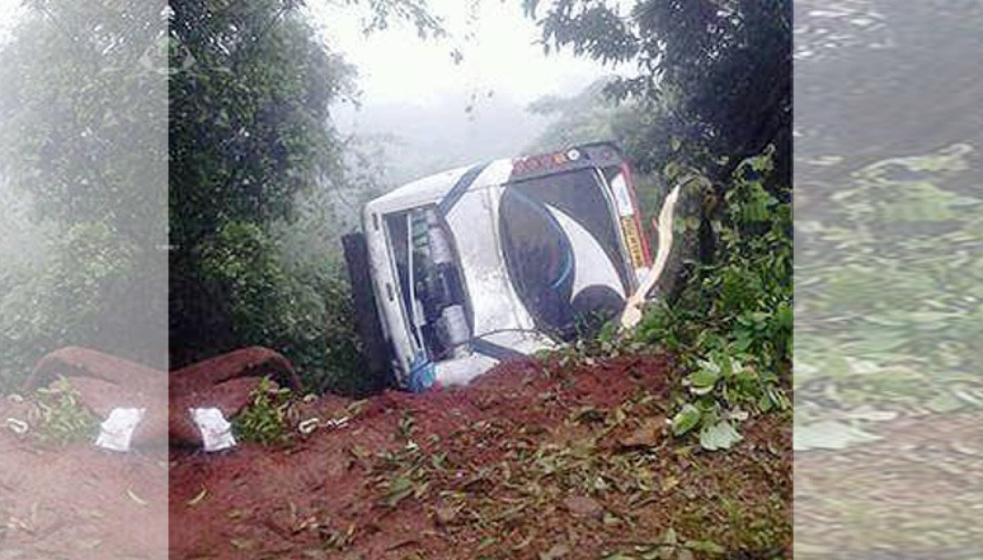 Luxury bus falls in Anjneri Ghat, Claims 2 lives, 20 injured
