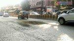 भायखळ्यात पेव्हरब्लॉक खचून रस्त्यावर खड्डा