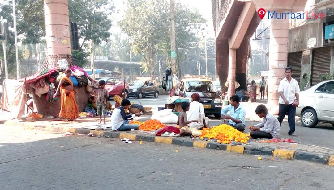 Homeless encroach footpath!