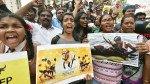चेंबूरमध्ये तामिळ नागरिकांचे आंदोलन