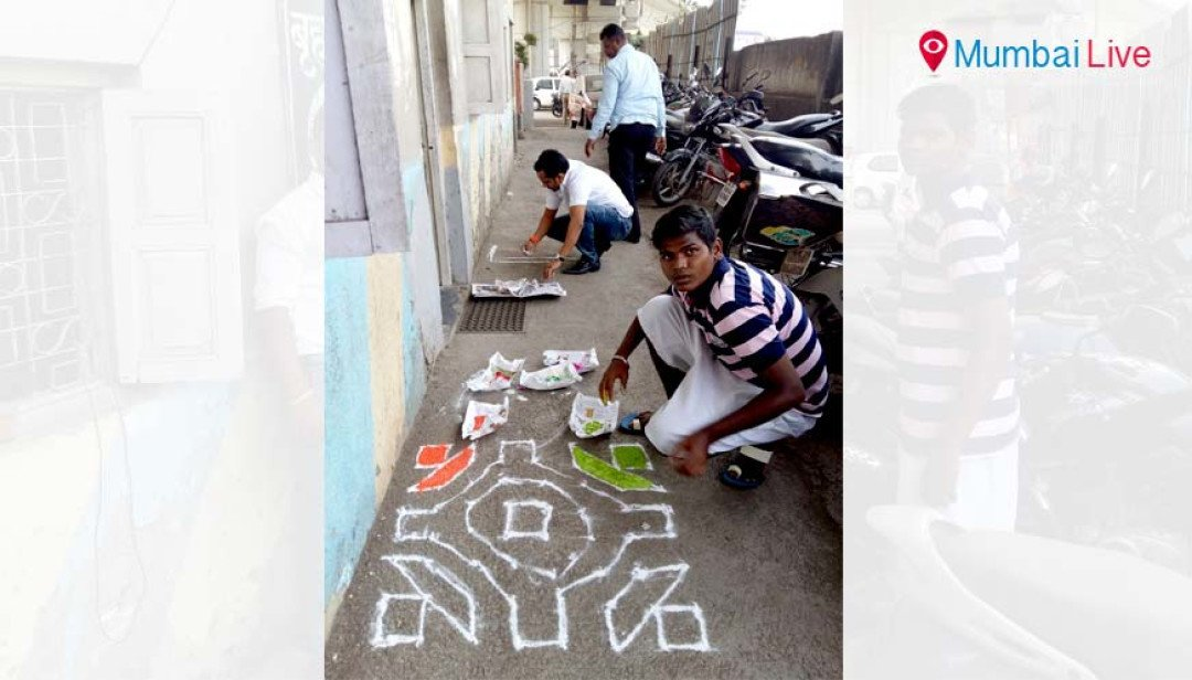 Activists clean, decorate traffic police posts