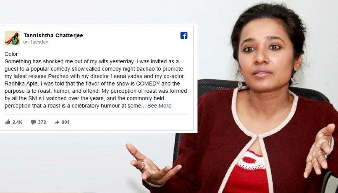 Colours apologies Tannishtha Chatterjee