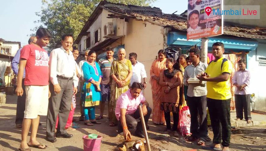 Corporator begins asphalting works