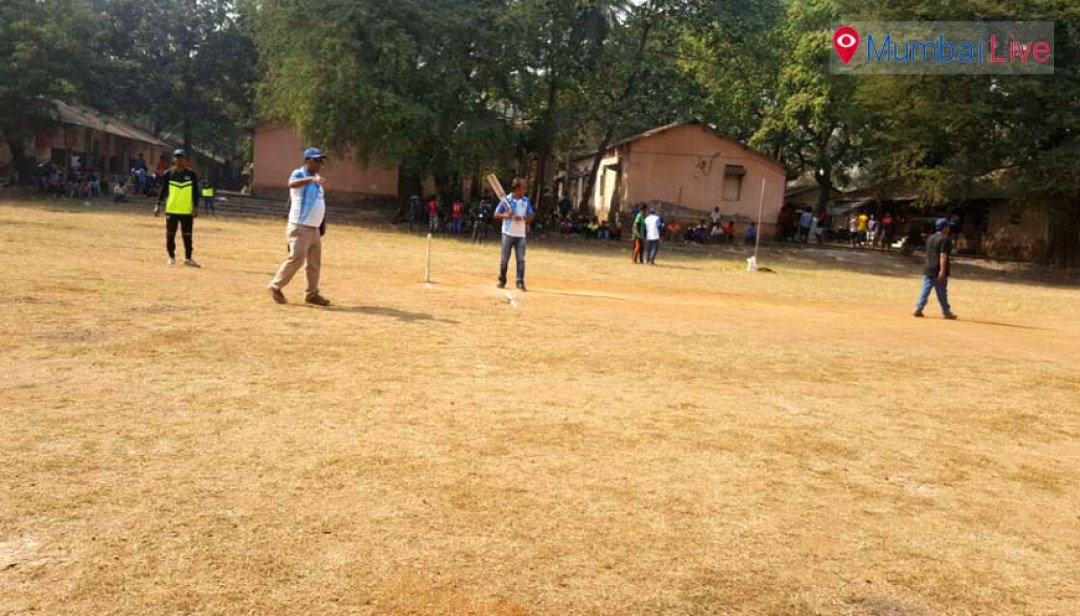 Juveniles play cricket while enjoying Xmas