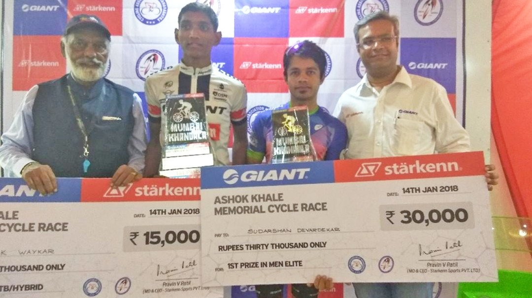 मुंबई खंडाळा सायकल शर्यतीत सुदर्शन, विवेक ठरले विजेते