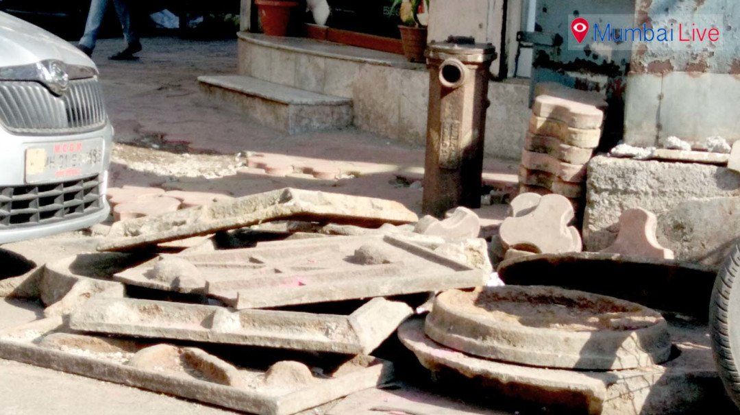 Old gutter lids clog Chira Bazaar street, BMC turns blind eye