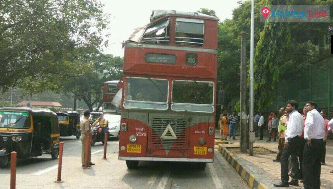 बस झाडाला आदळल्याने सहा जण जखमी