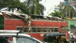 Six hurt as bus crashes into tree