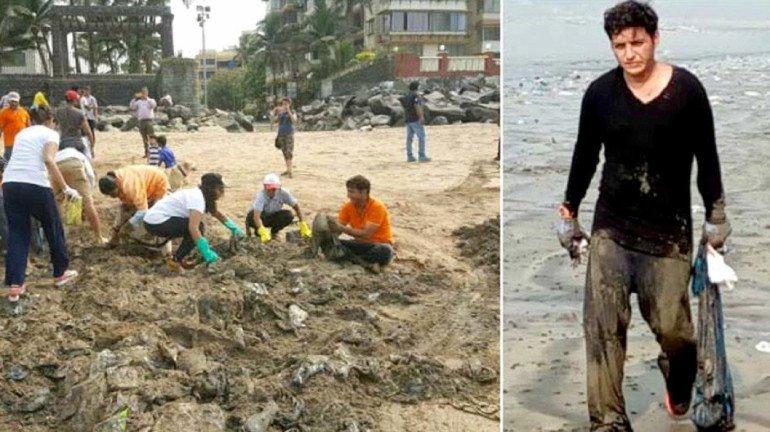 Afroz Shah's tweet forces BMC officials to clean up Versova beach