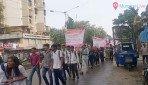 मतदान को लेकर छात्रों की रैली