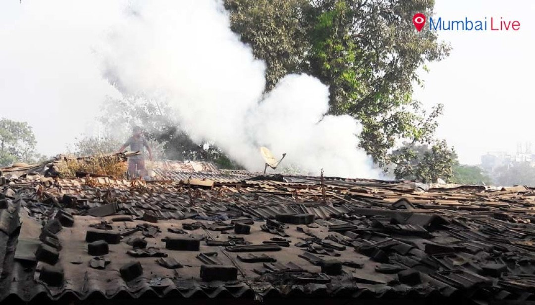 Short circuit cause fire, house gutted