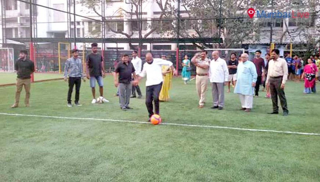 Football turf inaguration in College